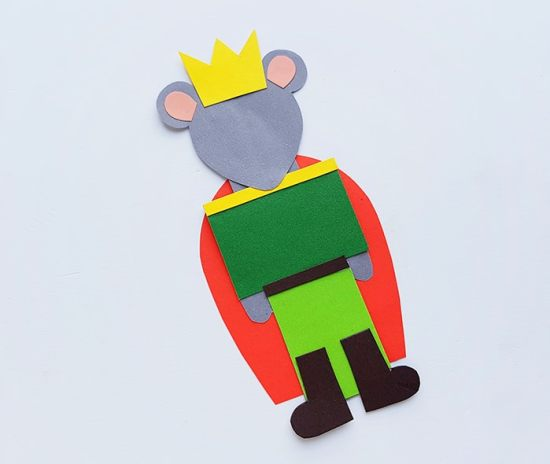 Step Five of the Mouse King Nutcracker Craft for Kids