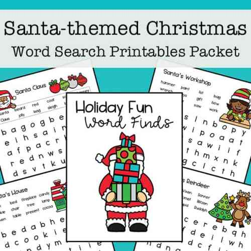 Christmas Word Search Printables - Free Set