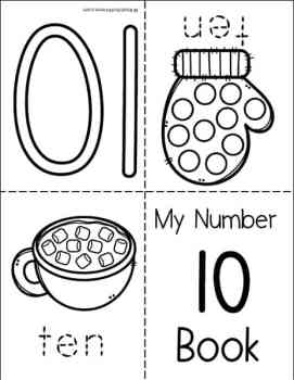 My Winter Numbers Mini Book (for numbers 1 - 10) from Real Life at Home