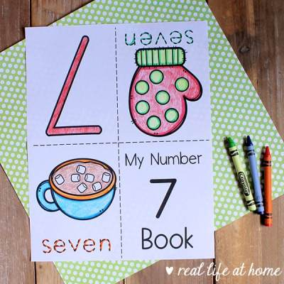 My Winter Numbers Mini Book Set for Preschool and Kindergarten from Real Life at Home
