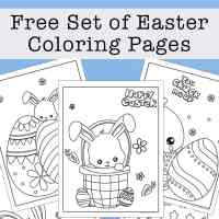 Free Easter Coloring Pages Printable Set with Bunnies, Chicks, and Eggs