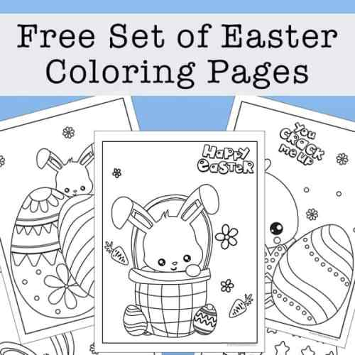 Free Set of Easter Coloring Pages