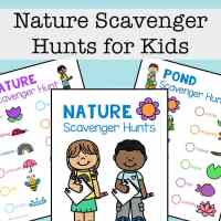 Free Nature Scavenger Hunt Printables Set for Kids