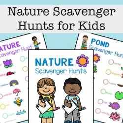 Free Nature Scavenger Hunts for Kids