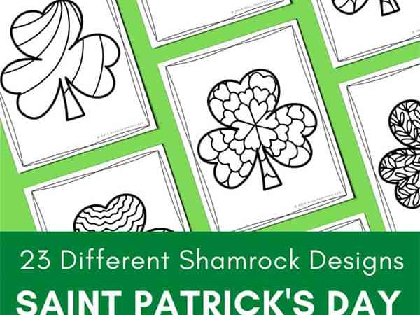 Saint Patrick's Day Coloring Pages for Kids and Adults (23 Shamrock Coloring Pages)