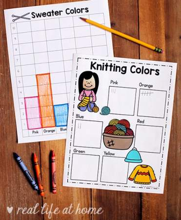 Polling and Graphing Worksheets and Activity for Kindergarten - 2nd Grade