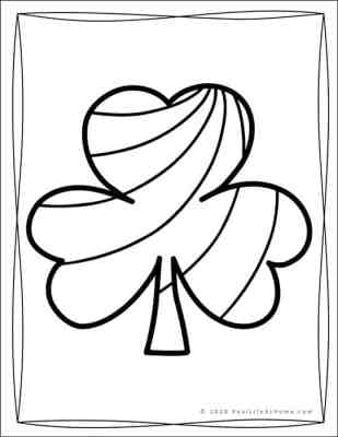Shamrock Coloring Pages for Kids (Free Printable)