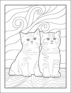 Two Cats Page Version One