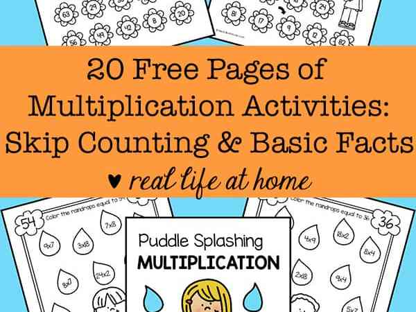 20 Free Multiplication Worksheets: Basic Facts and Skip Counting