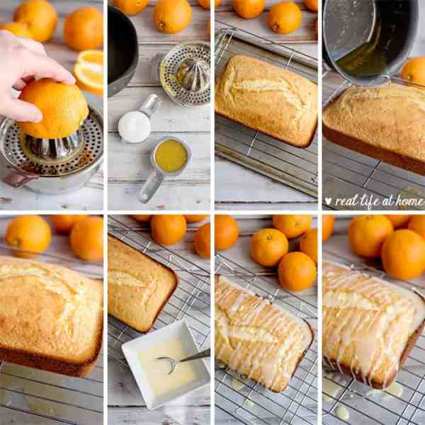 Pictures of Directions for Making Homemade Orange Glaze and Icing