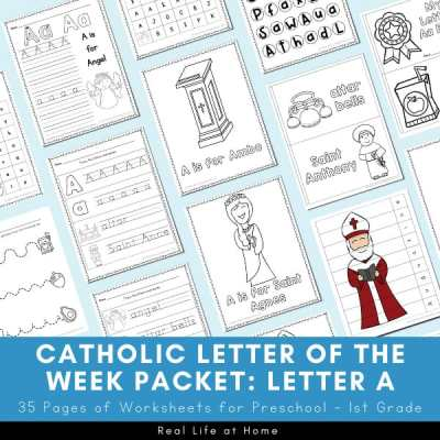 Catholic Letter of the Week Packet for Letter A