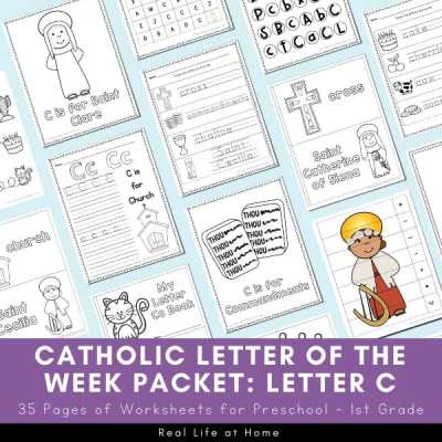 Catholic Letter of the Week Packet for Letter C