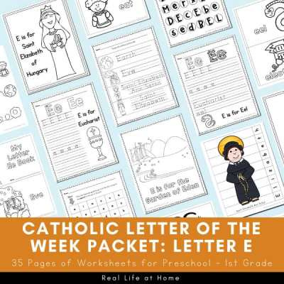 Catholic Letter of the Week Packet for Letter E