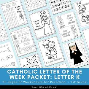 Letter K - Catholic Letter of the Week Packet