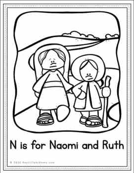Naomi and Ruth Coloring Page