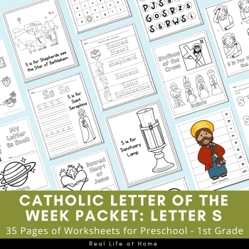 Letter S - Catholic Letter of the Week Packet