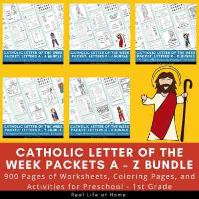 Catholic Letter of the Week A - Z Bundle (910 Pages)