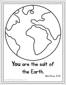 Matthew 5:13 Coloring Page