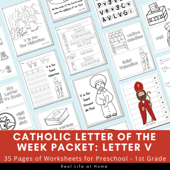 Catholic Letter of the Week Packet - Letter V