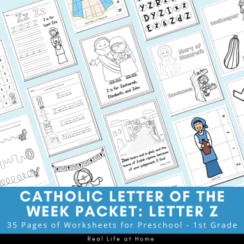 Letter Z - Catholic Letter of the Week Packet