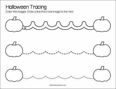 Pumpkin Line Tracing Printable