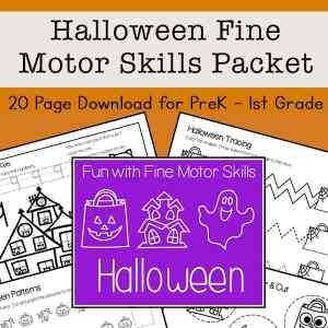 Halloween Fine Motor Skills Packet