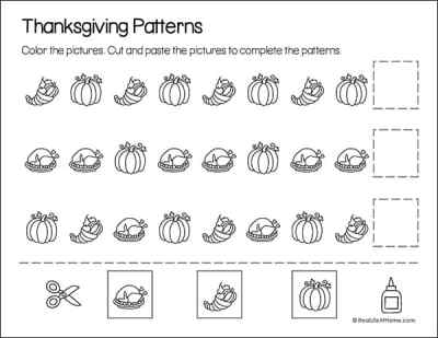 Thanksgiving pattern page