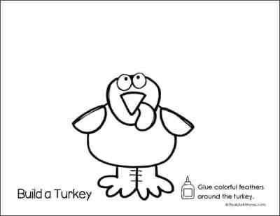 Build a Turkey Coloring and Activity Page