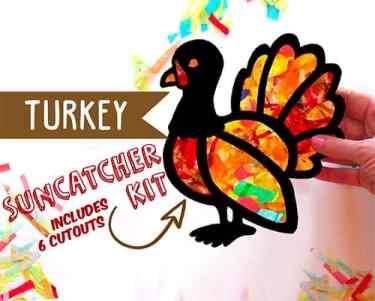 Turkey Suncatcher Craft