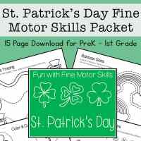 St Patrick's Day Fine Motor Skills Packet for Preschool - 1st Grade