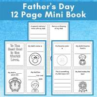 Printable Questionnaire Father's Day Mini Book for Kids