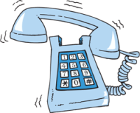 Image result for phone ringing I'll get it