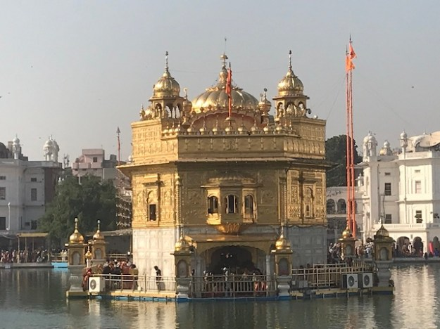 Close up of the Golden Temple in Amritsar