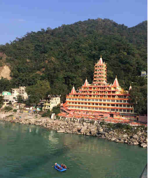 Rishikesh was first stop on our motorbike trip around India
