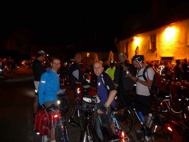 fueling up at the White Hart on the Dunwich Dynamo