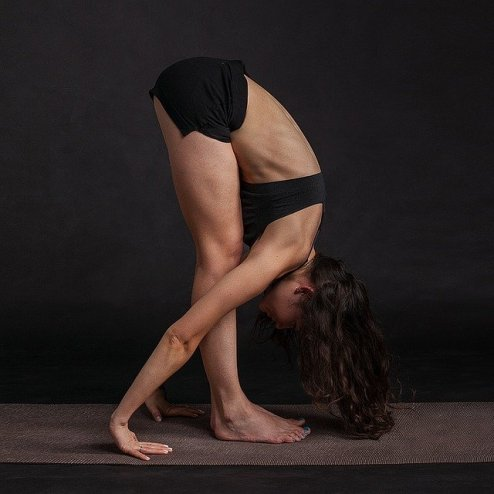 essential daily stretch for cyclists - forward bend