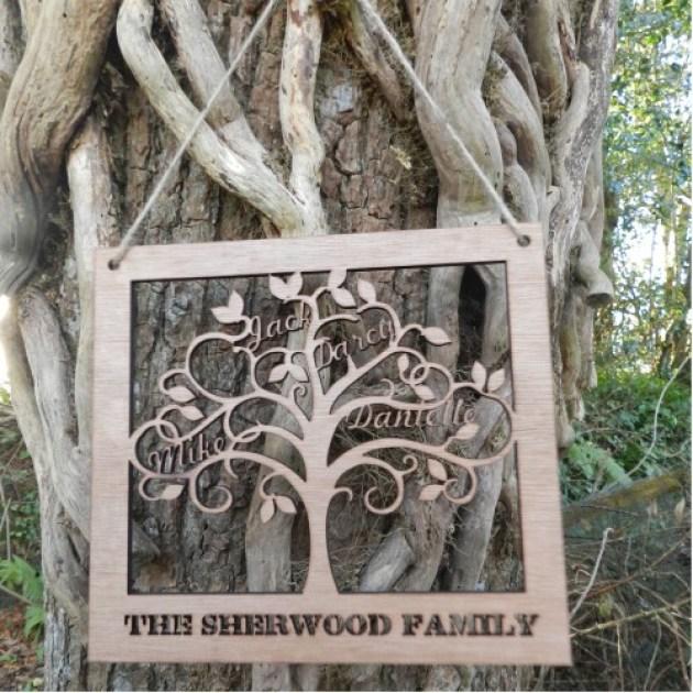 Wooden Family Tree Wall Art Missing Sleep