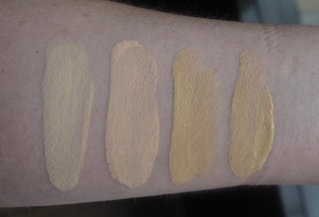The Ordinary Colours Foundation Swatches - 1.1N, 1.1P, 1.1Y, 1.1YG