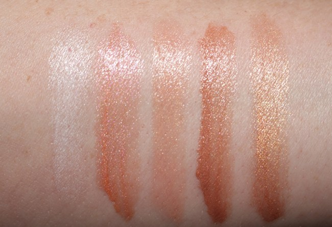 Tom Ford Boys and Girls Swatches Lily, Edita, Carine, Lisa, Amber