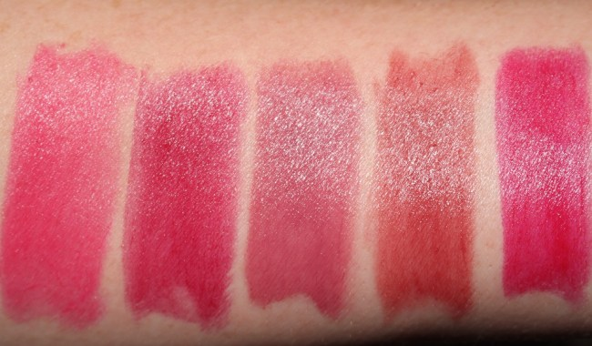 Bobbi Brown Crushed Lip Color - Crush, Grenadine, Lilac, Plum, Punch Swatches