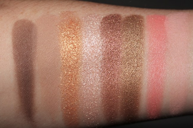 Guerlain Christmas 2017 - Palette Gold Swatches