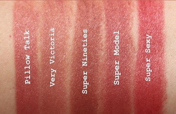 Charlotte Tilbury Supermodel Lipstick comparisons with Pillow Talk & Very Victoria