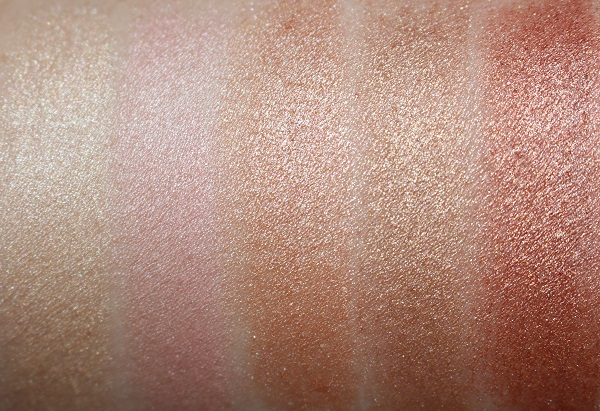 YSL Touche Eclat Shimmer Stick Swatches