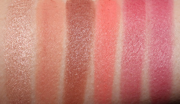 NARS Exposed Cheek Palette Swatches (wet)