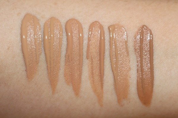 Ciate Extraordinary Foundation Swatches - Medium shades