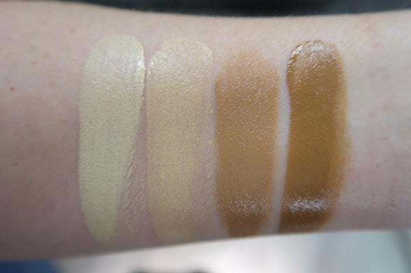 Tom Ford Glow Tone Up Foundation - Flesh Tone Swatches