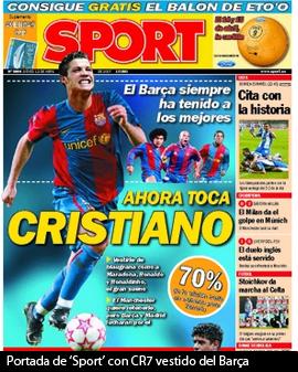 Presa catalana sublinia interesul Barcei in 2008 pentru CR7