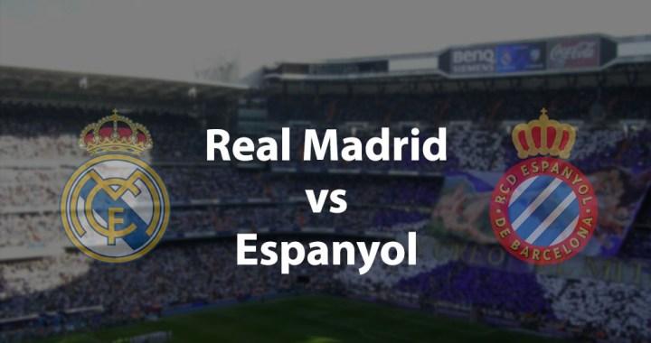 Real Madrid – RCD Espanyol: Los Blancos impotriva unui adversar prieten