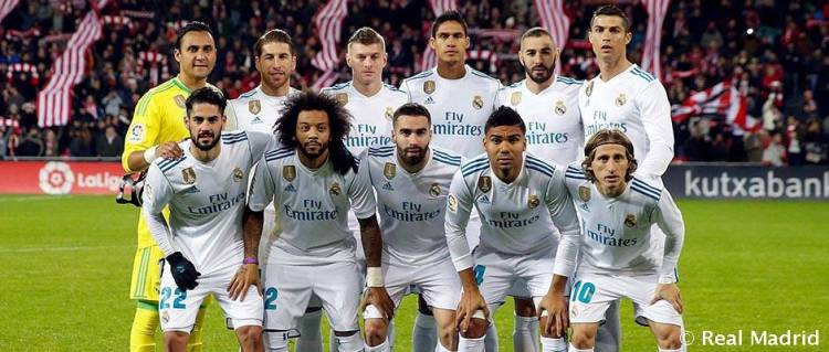Real Madrid's starting line-up for the Champions League ...