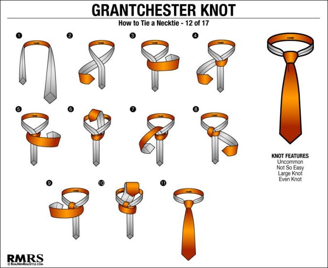 how to tie a tie charts